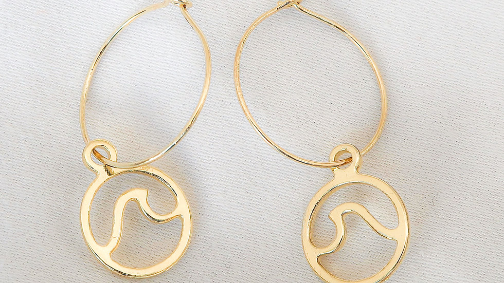"""Waimea"" Hoop Earrings"