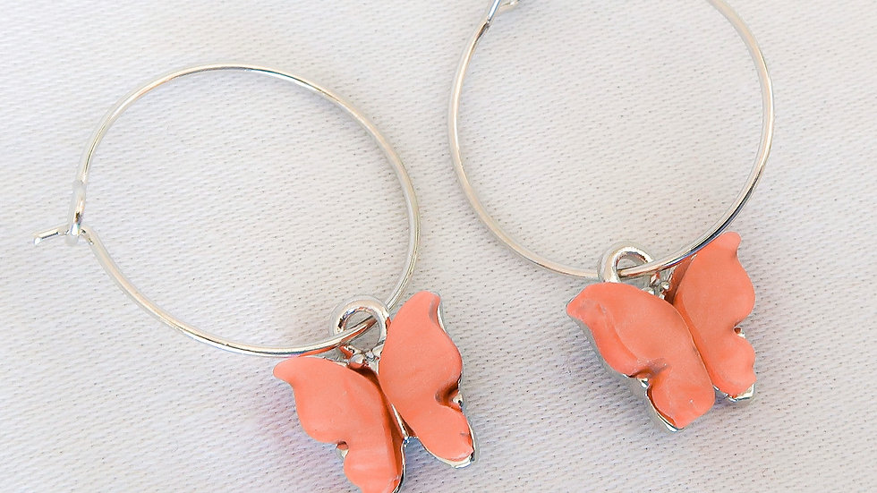 """Apricot Princess"" Hoop Earrings"