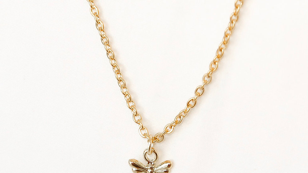 """Bee Humble"" Single Charm Necklace"