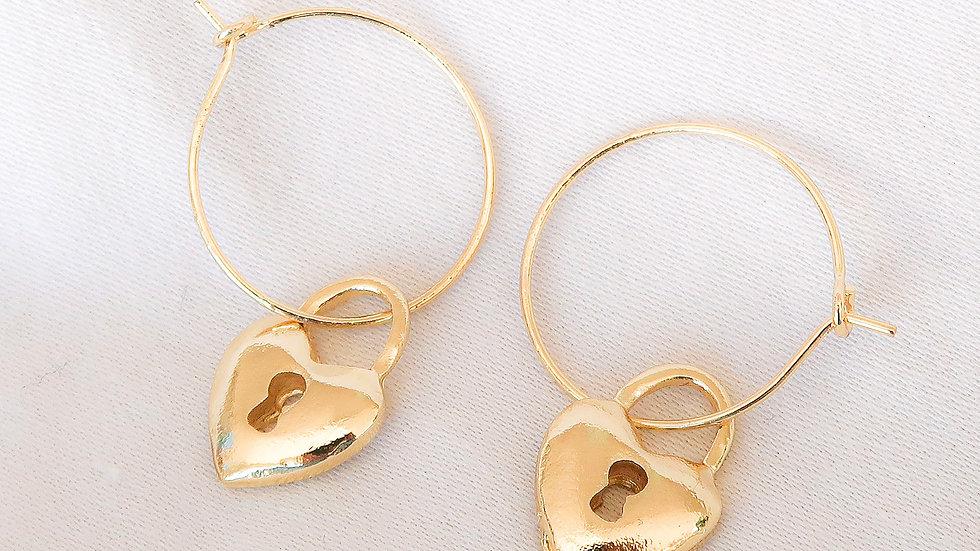 """""""Heartless"""" Hoop Earrings"""