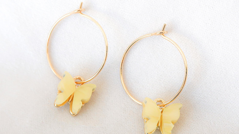 """Lemonade"" Hoop Earrings"