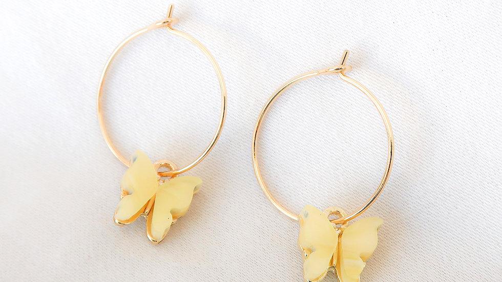 """""""Lemonade"""" Hoop Earrings"""