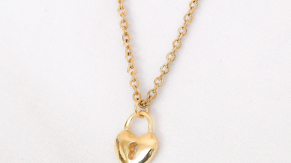 """""""Heartless"""" Single Charm Necklace"""