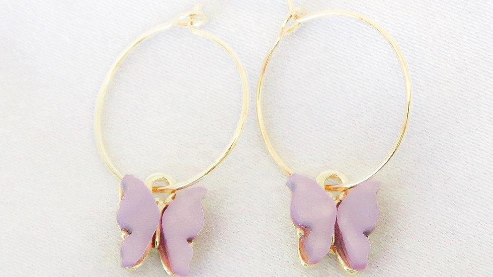 """""""Purple Rain"""" Hoop Earrings"""