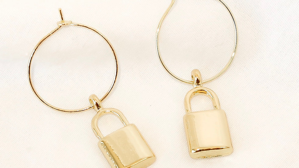 """Try Me"" Hoop Earrings"