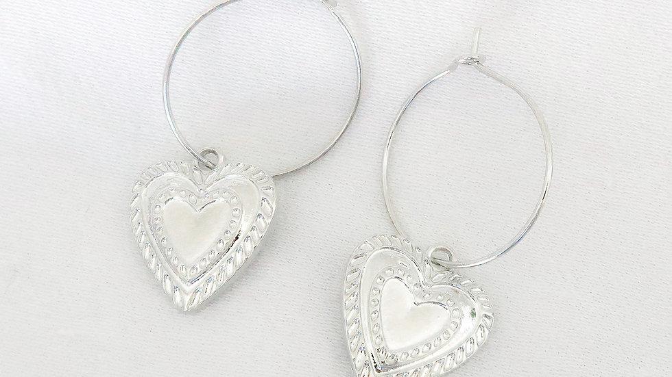 """""""Amore"""" Hoop Earrings"""