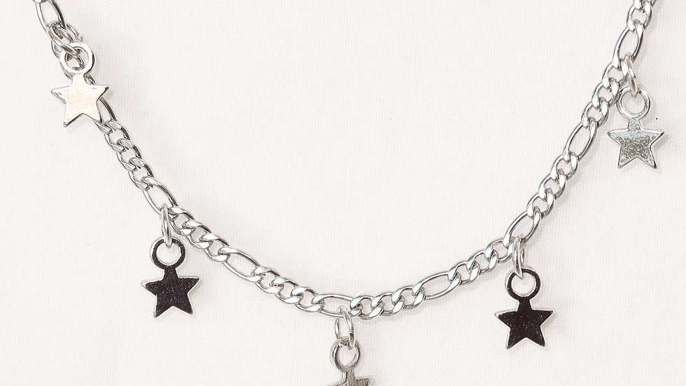 """Star-Crossed Lovers"" Charmed Choker Necklace"