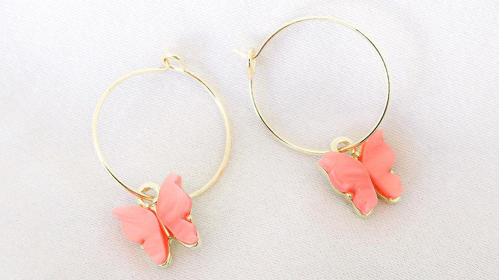 """""""Apricot Princess"""" Hoop Earrings"""