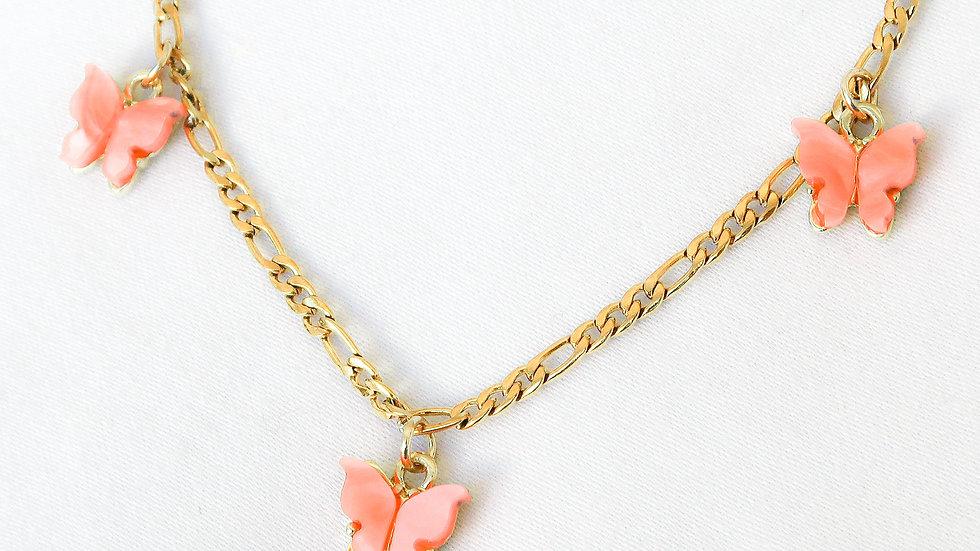 """Apricot Princess"" Charmed Choker Necklace"