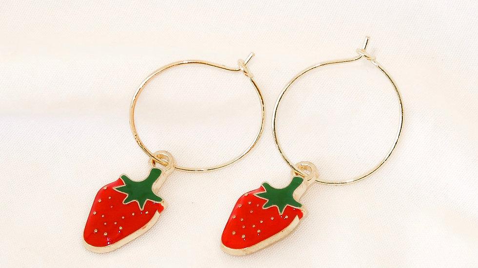 """""""Berry Sweet"""" Hoop Earrings"""