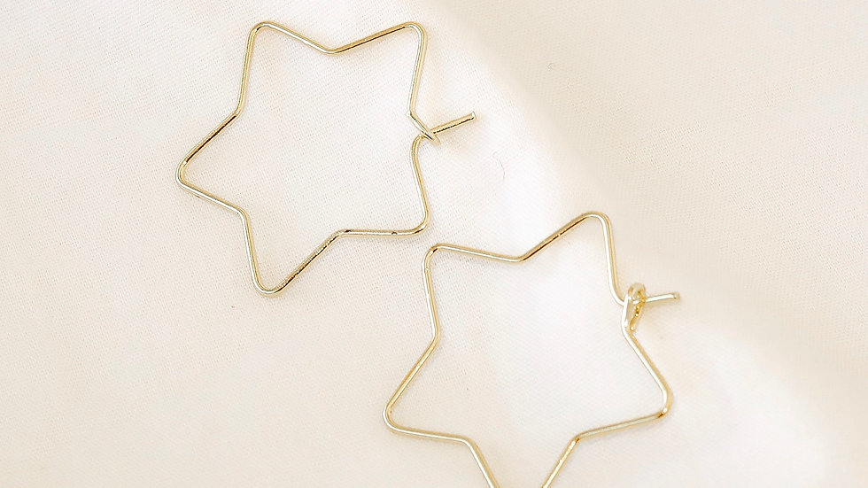 """Starry Night"" Hoop Earrings"