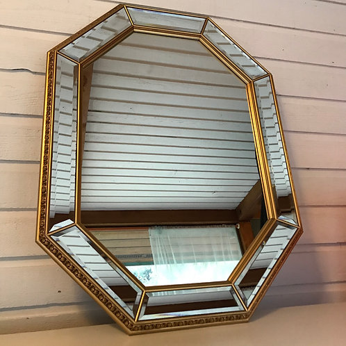 Octavia - Octagonal Mirror with Gold