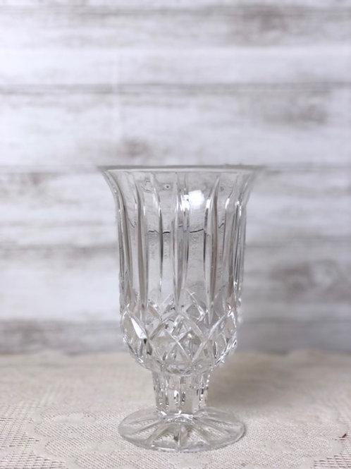 Wide Crystal Vase