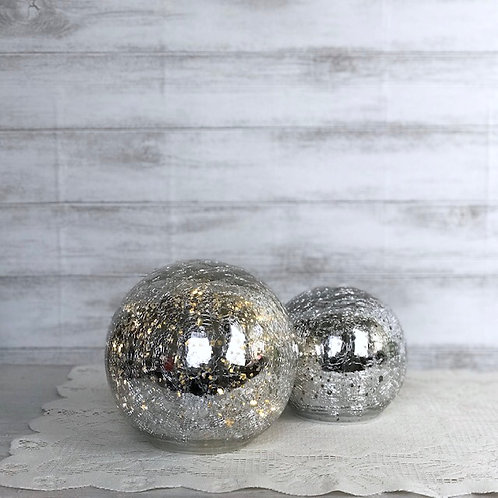Silver Glass Spheres