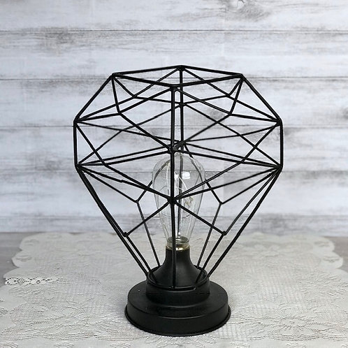 Black Iron Geometric Lamp