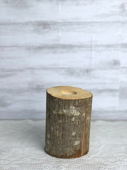 Log Candle Holder (Wide)