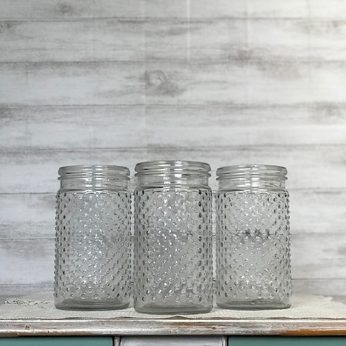 Ribbed Glass Jars