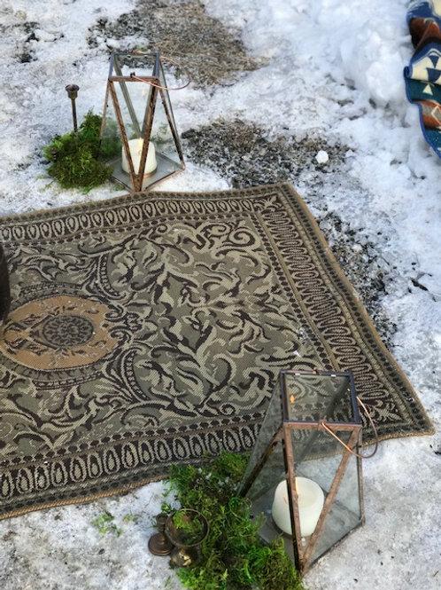 Brown & Taupe Rectangular Carpet