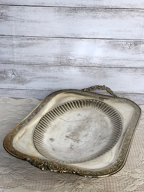 Silver Rectangular Serving Dish