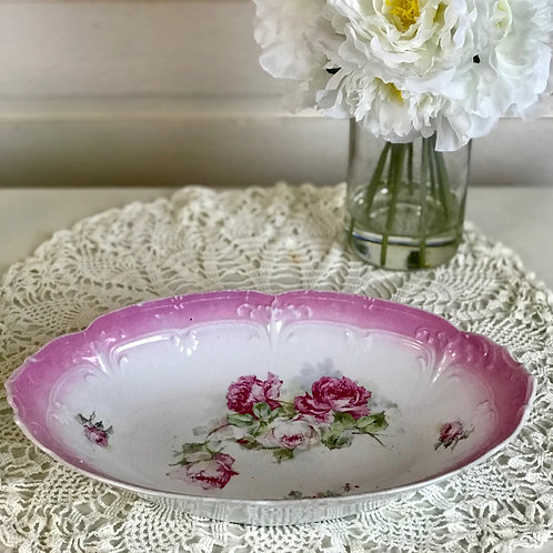 Pink Floral China Dish