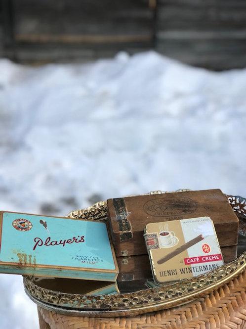 Vintage Cigarette & Cigar Boxes