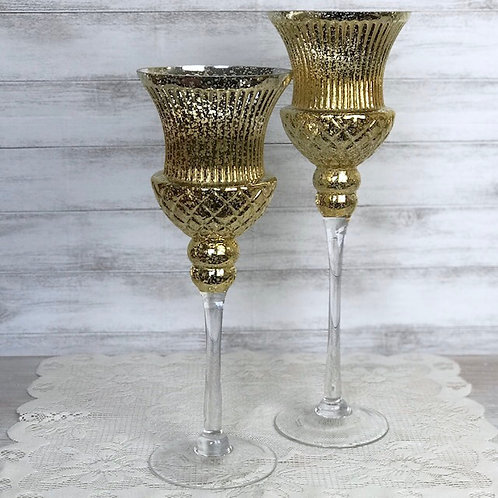 Gold Flaked Wine Glasses