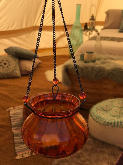 Hanging Moroccan candleholders