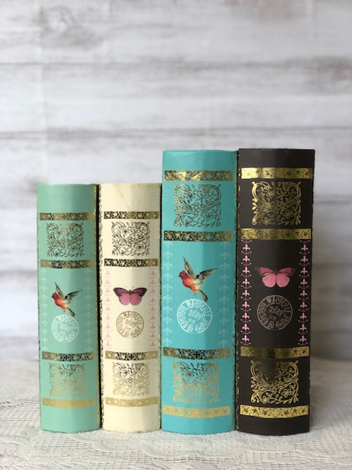 Floral Faux Book Collection