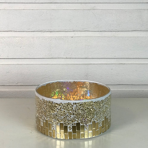 Golden Dish/ Candle Holder