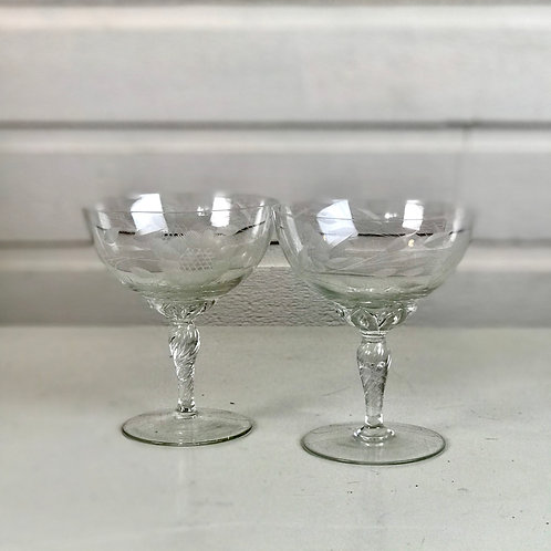 Wide Cocktail Glasses
