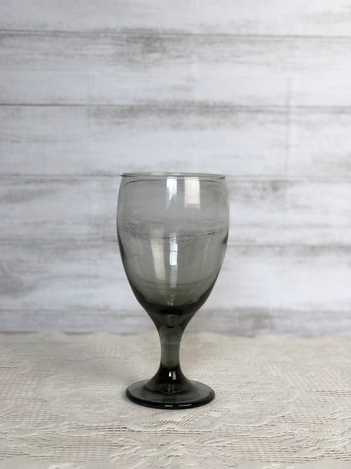 Smokey Grey Wine/ Water Glass