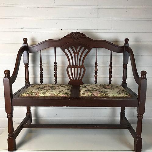 Oak & Floral Bench seat