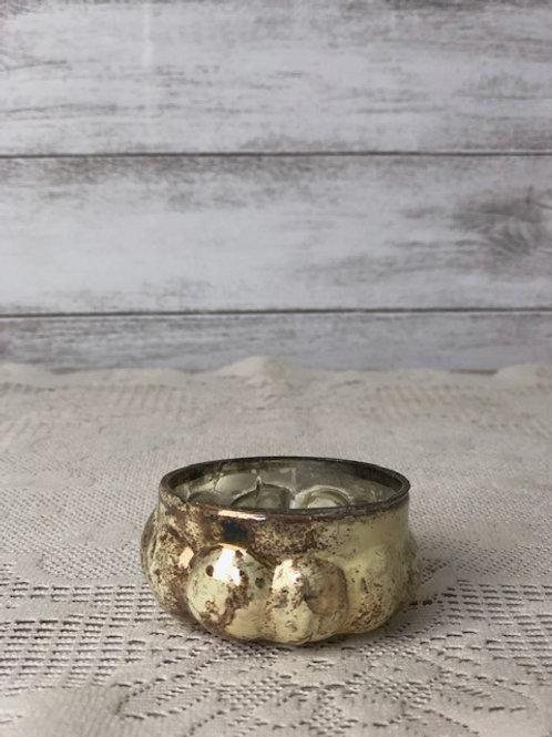 Gold Fleck Tea Light Candle Holder