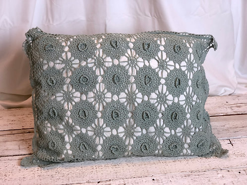 Antique Green Lace Macrame