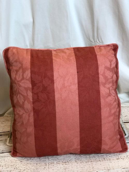 Rosewood & Blush Striped Pillow