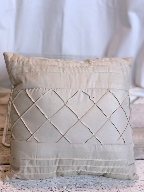 Beige Square Pillow