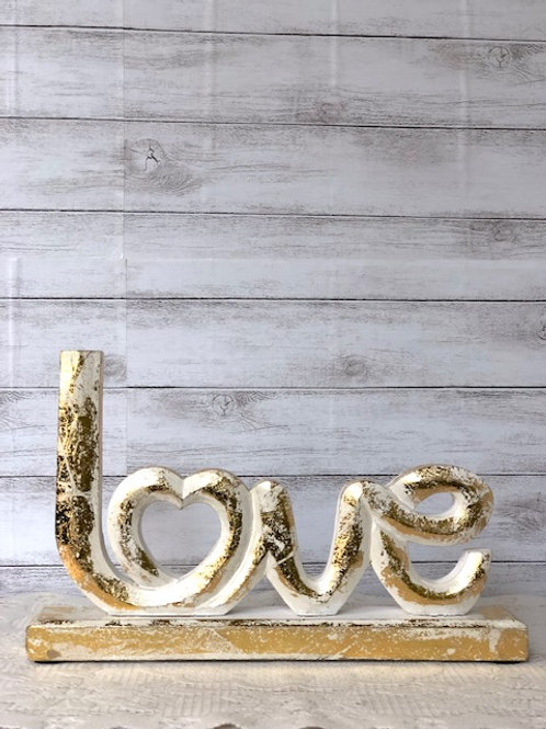 Gold Fleck Love Sign
