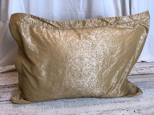 Golden Beige Damask Pillow