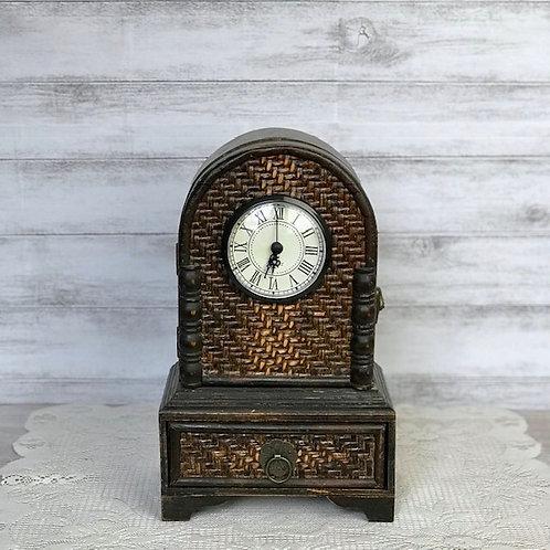 Dark Wicker Clock
