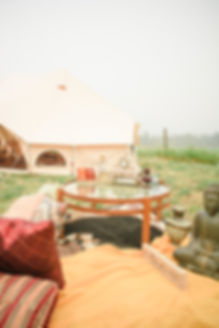 Morrocan inspired wedding seating with glamping
