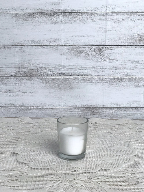 White In Glass Candles