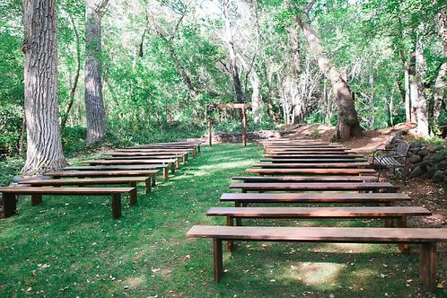 8 ft Long Wood Bench Seating