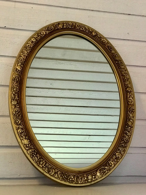 Greta - Gold Oval Mirror