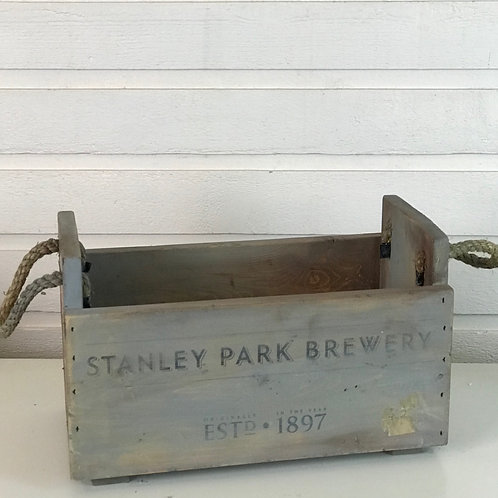 Stanley Park  Brewery Antique Wooden Crate