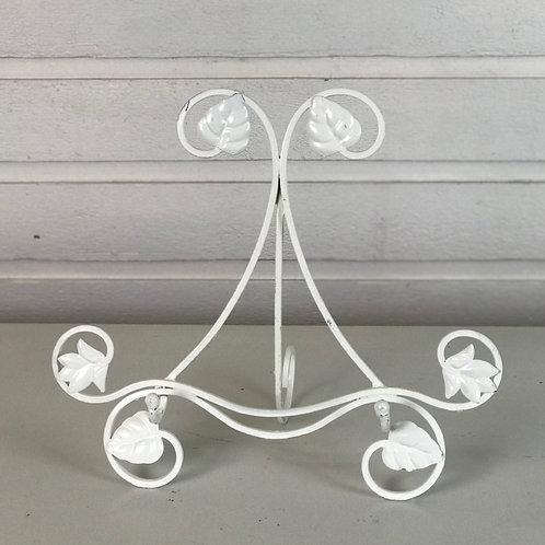 White Leaf Mirror & Frame Stand