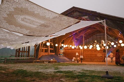 Extra large custom vintage lace canopy