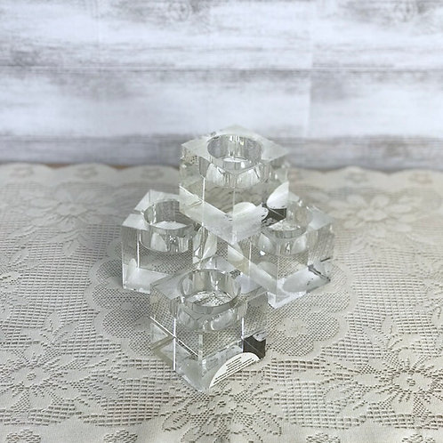 Crystal Cube Tea Light Holders