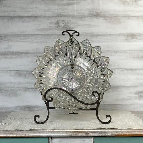 Etched Crystal Serving Platter