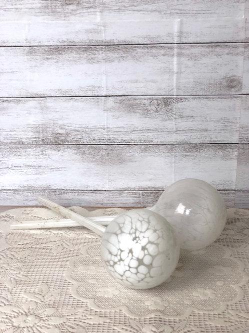 White Glass Globe