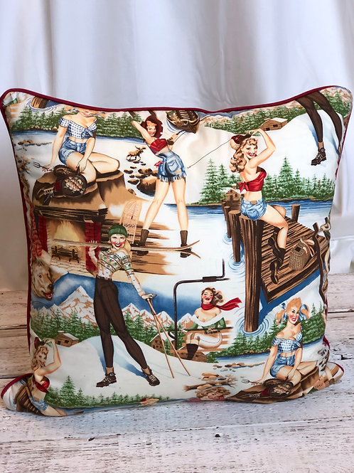 Country Pin Up Girl Pillow